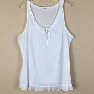 Old Navy Ruffle Tank - White
